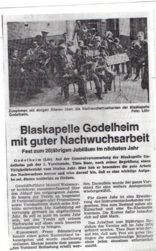 1973 Zeitungsartikel
